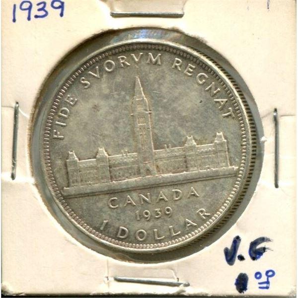1939 Canadian Silver Dollar