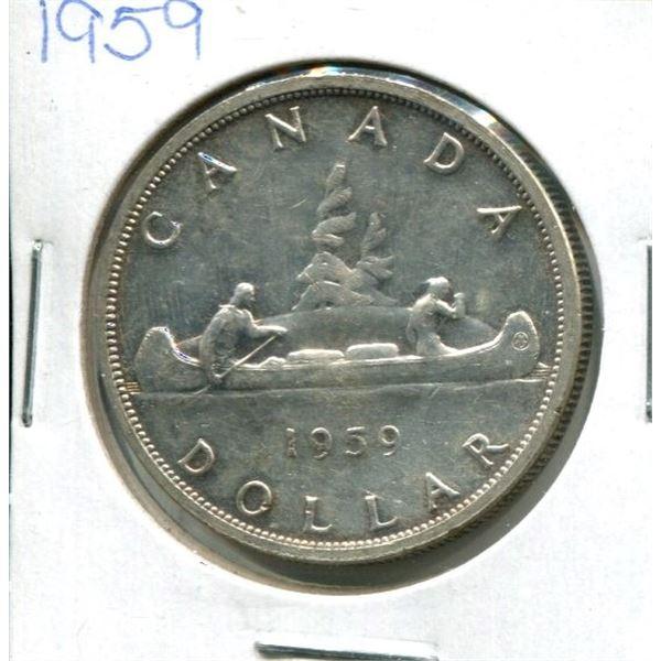 1959 Canadian Silver Dollar