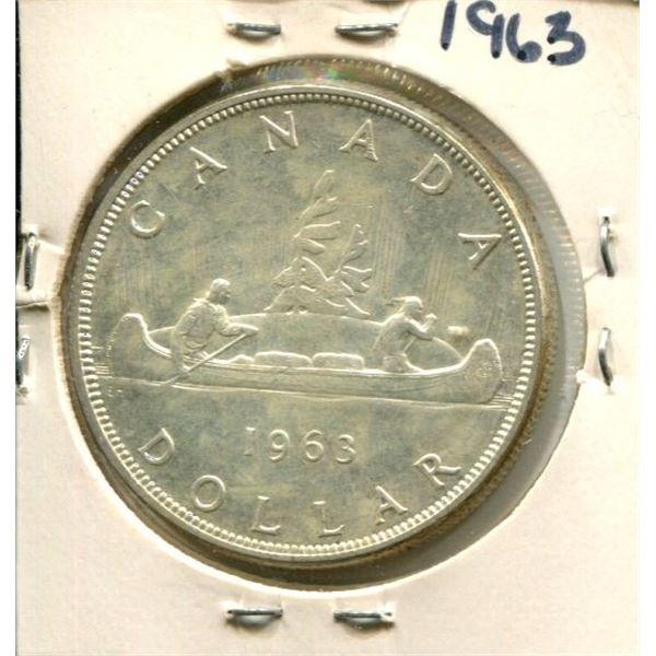 1963 Canadian Silver Dollar