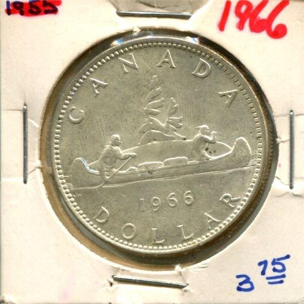 1966 Canadian Silver Dollar