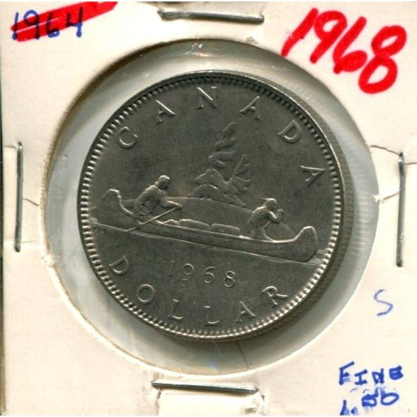 1968 Canadian Nickel Dollar