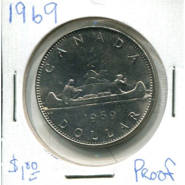 1969 Canadian Nickel Dollar
