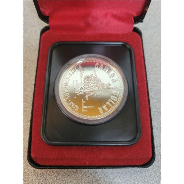 1975-S Canadian Silver Dollar