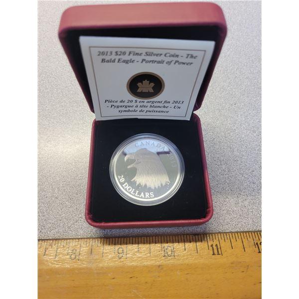 2013 Canadian $20.00 Bald Eagle Loin