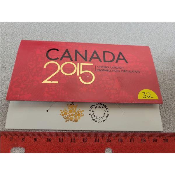 Canada 2015 uncirculated coin set RCM