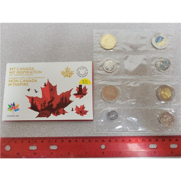 My Canada, My Inspiration 2017 uncirculated coin set RCM