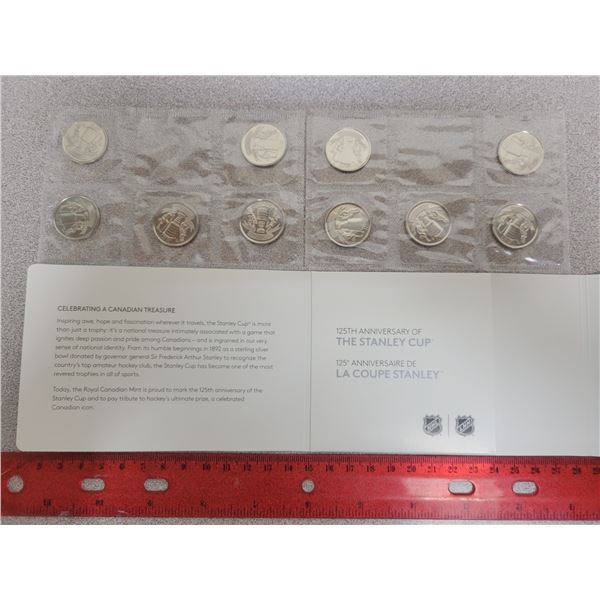 RCM 125th anniversary of The Stanley Cup 10 quarter 25¢ set