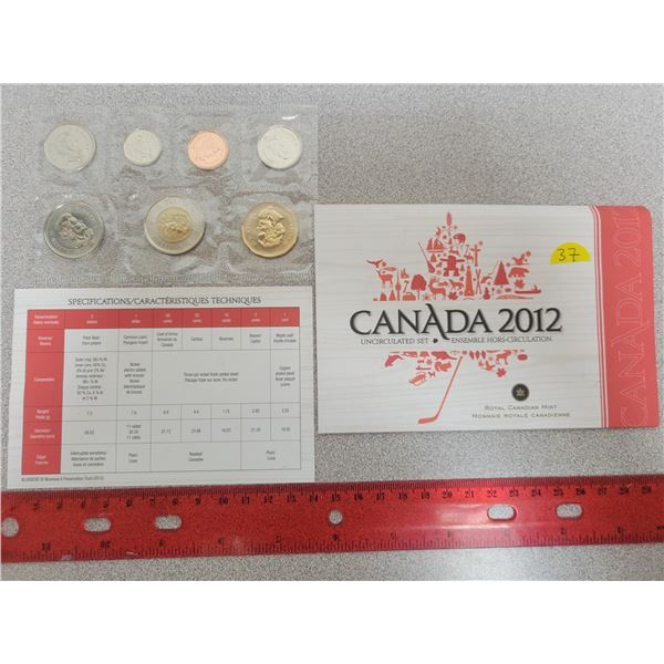 2012 Canada uncirculated set RCM