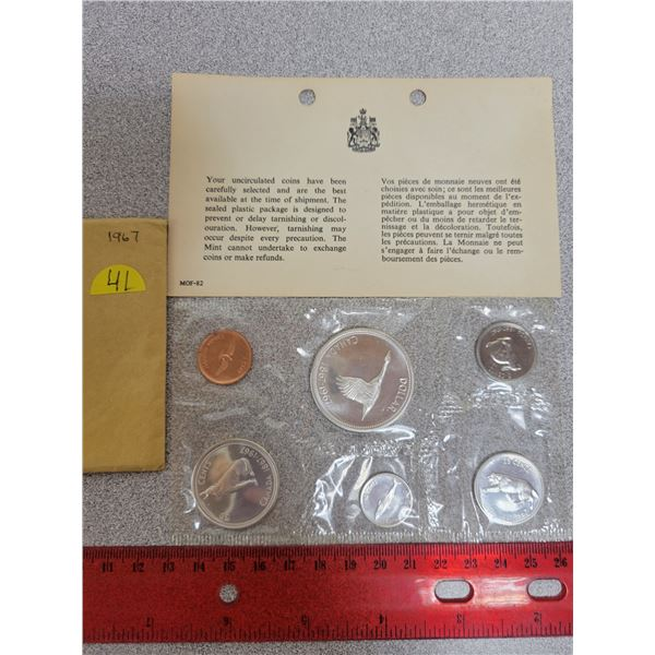 1967 Canadian unciculated coin set