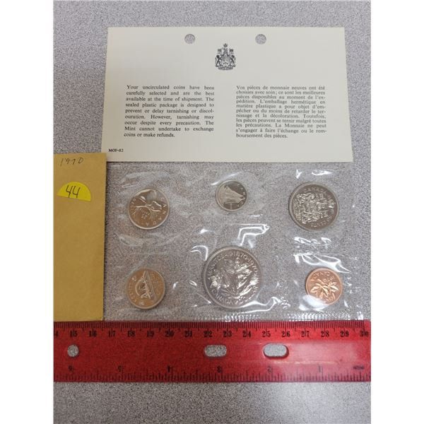 1970 Canadian unciculated coin set