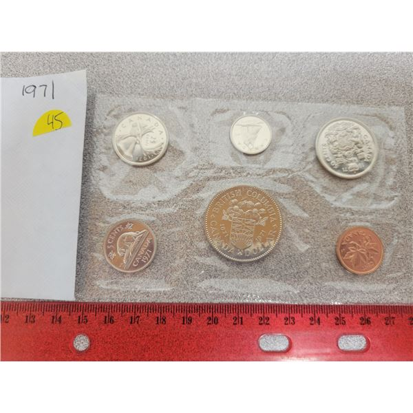 1971 Canadian unciculated coin set