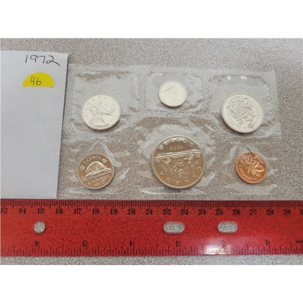 1972 Canadian unciculated coin set