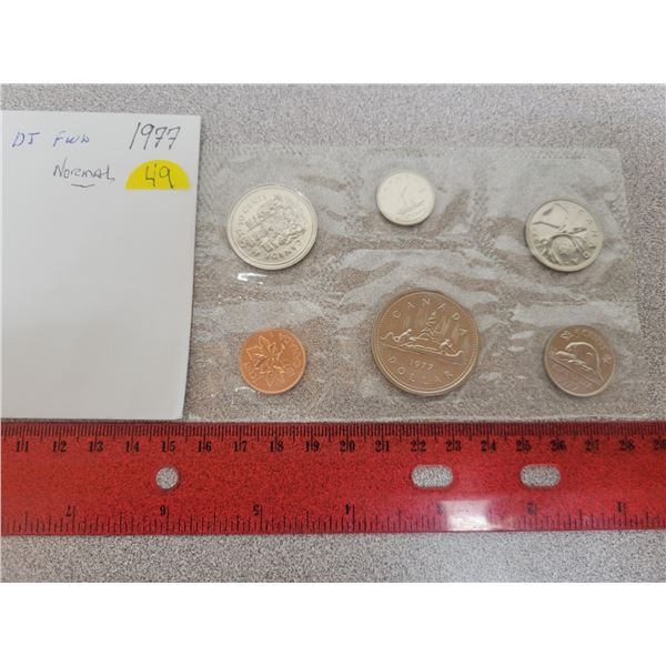 1977 Canadian unciculated coin set