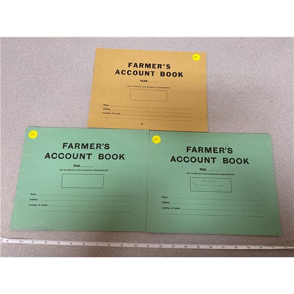 (3) Farmers Account Books