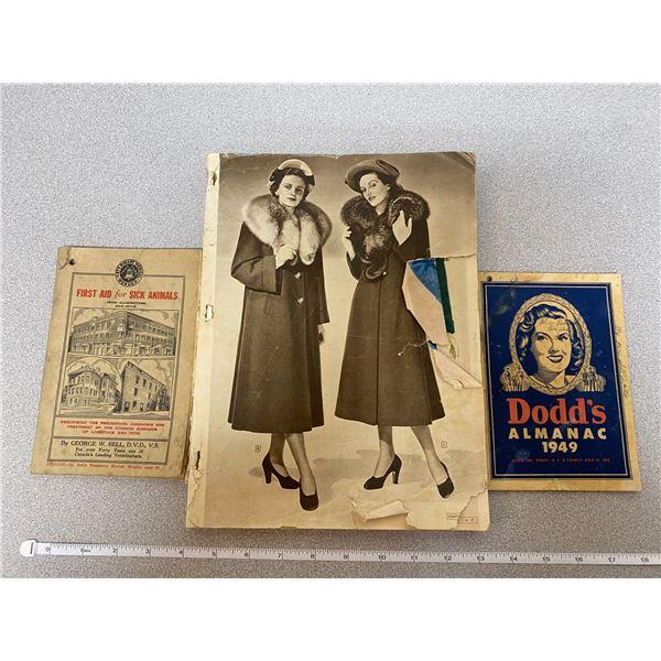 """First Aid For Sick Animals"" + ""Dodd's Almanac 1949"" + Etc."