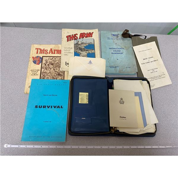 """Lot Of Army Books """" Army Related Items (Books, Envelopes, Etc.)"""