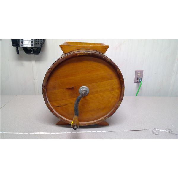 wooden barrel butter churn