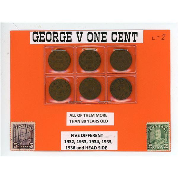 Geroge V one cent 1932 - 1936