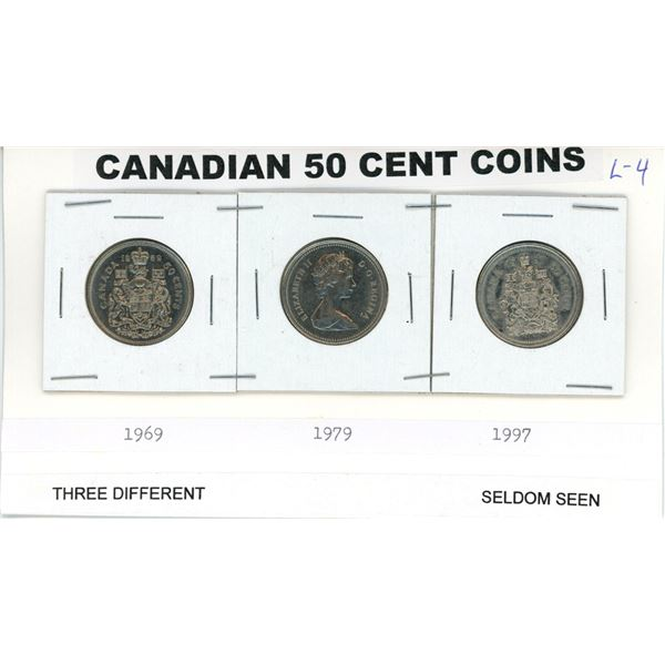 Canadian 50¢ pieces seldom seen 1969, 1979 & 1997