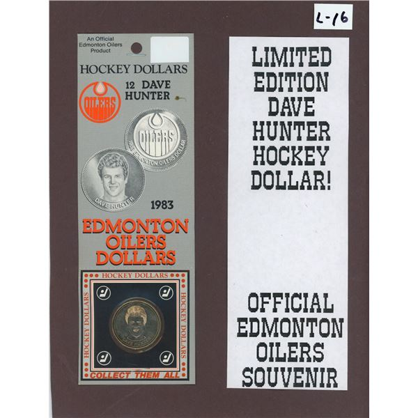 Official Issue Edmonton Oilers Dave Hunter Hockey Dollars in Original Packaging