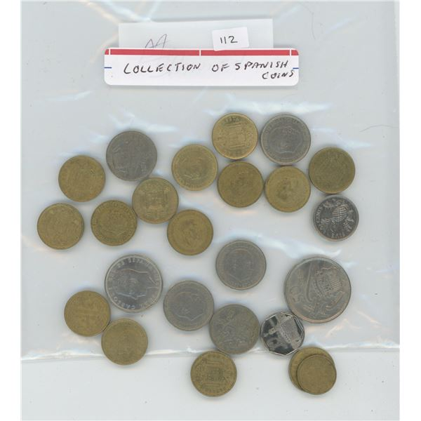 Collection of Spanish coins