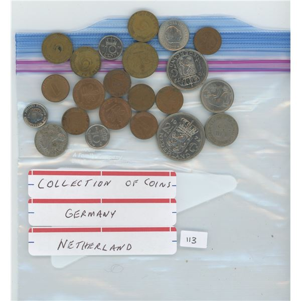 Collection of German and Netherland coins