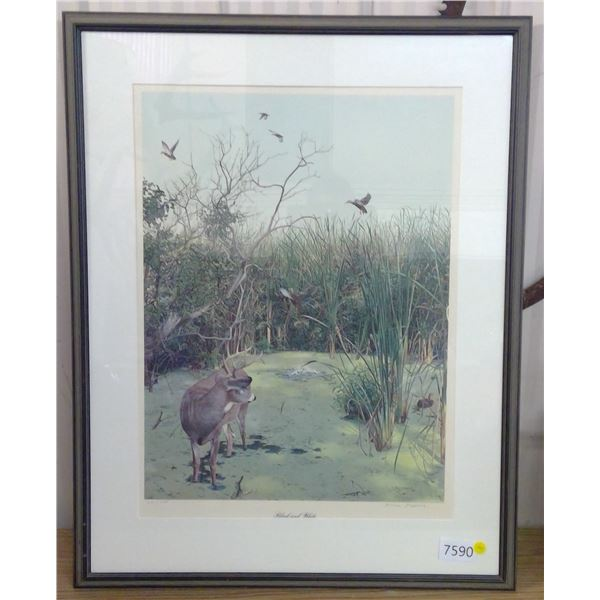 "Decorative picture in frame 33"" X 27"" - Ducks Unlimited"