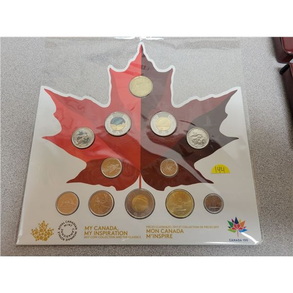 2017 Canadian 'My Canada, My Inspiration' coin collection and the classics in maple leaf holder