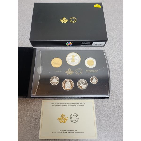 2017 Fine silver proof set 150th anniversary of Canadian Confederation