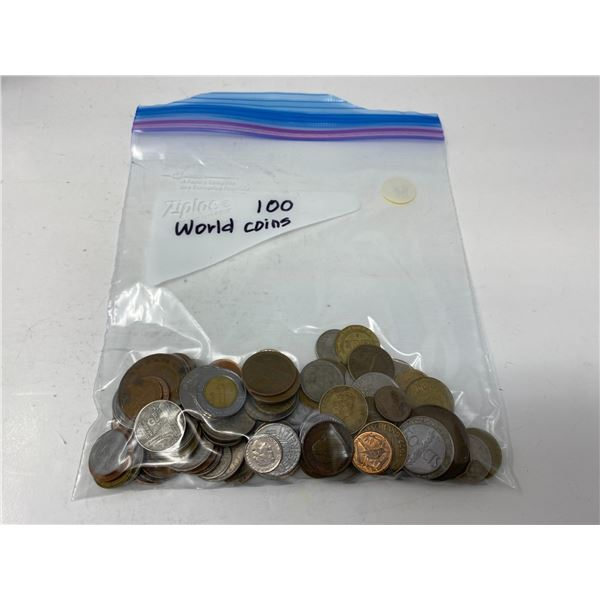 one bag of 100 world coins
