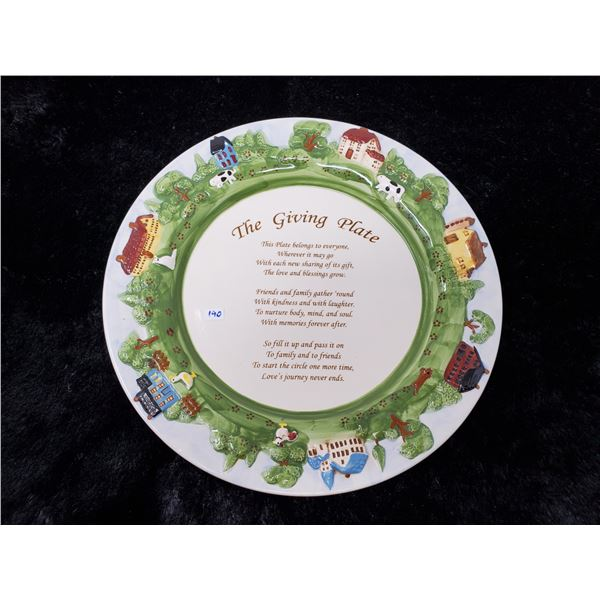"The Giving Plate 12 1/2"" Diameter"