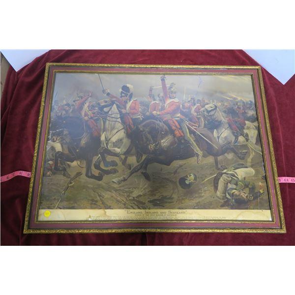 Vintage print: Union Brigrade At Waterloo 33x25