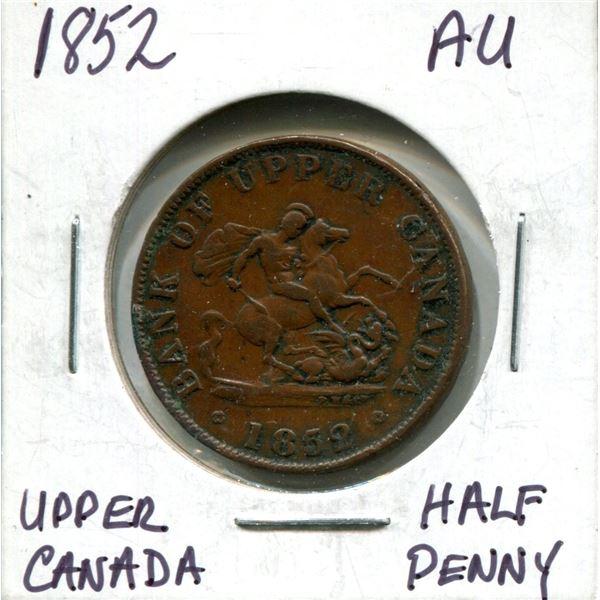 1852 Upper Canada half penny