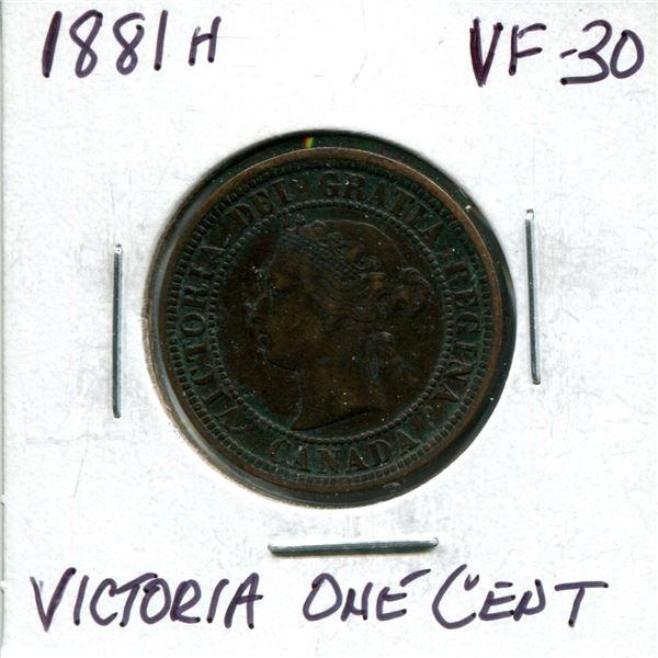 1881-H Victoria large cent