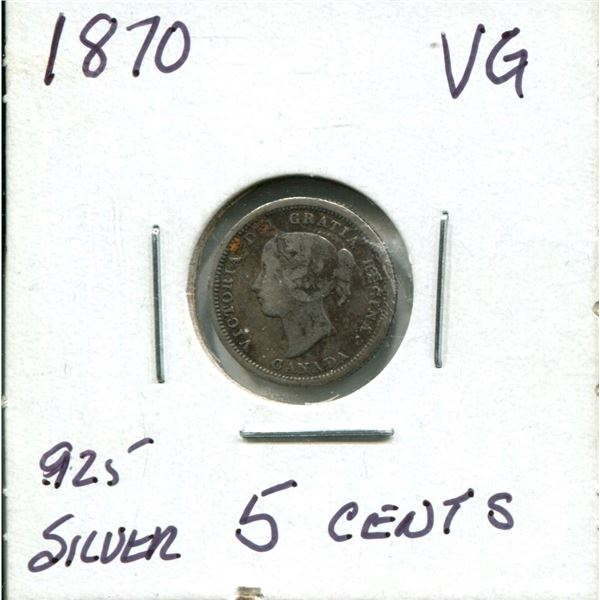 1870 Victoria 5 cents