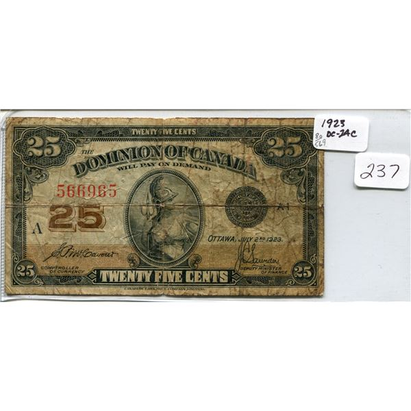 1923 Shinplaster 25 cents