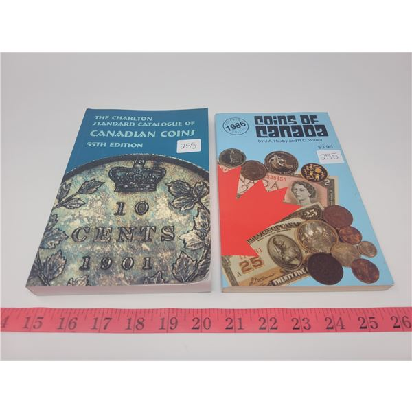2 coin books - Chalton standard catalogue of Canadian coins 55th edition & 1986 coins of Canada