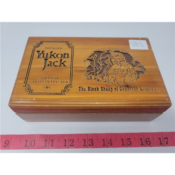 Wooden Yukon Jack box with playing cards inside (new)
