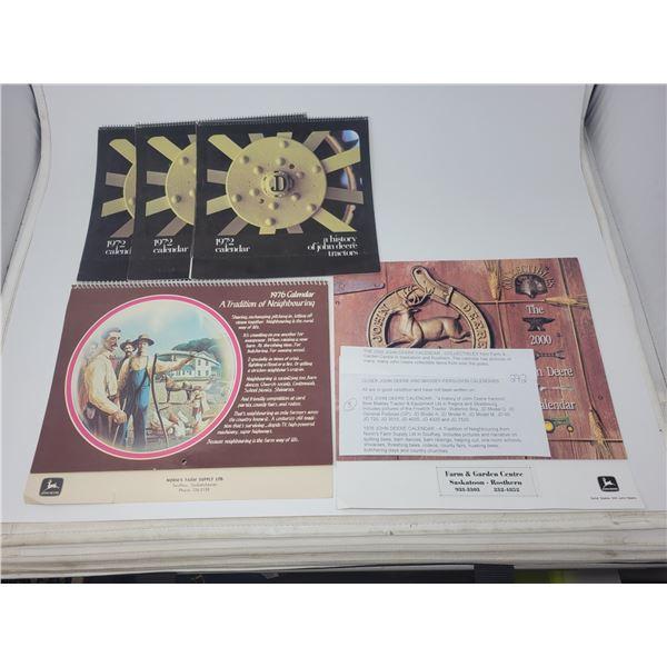 5 older John Deere calendars (3 X 1972, 1976 & 2000)