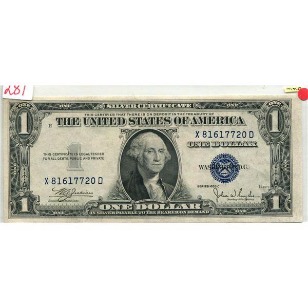 U.S. 1935 Washington $1.00 Blue Seal mint cond.