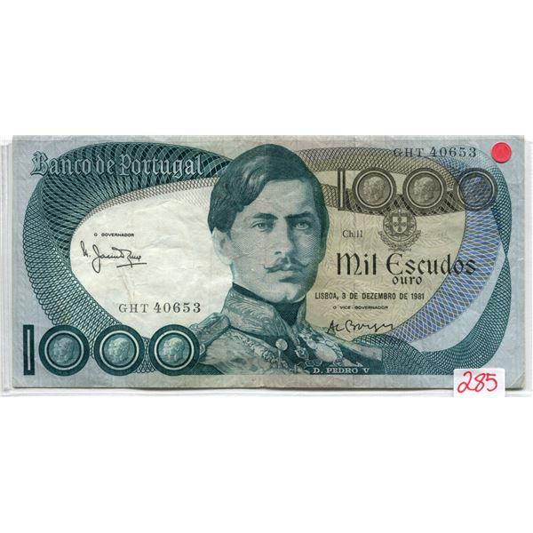Portugal 1981 1000 Escudos fine cond.