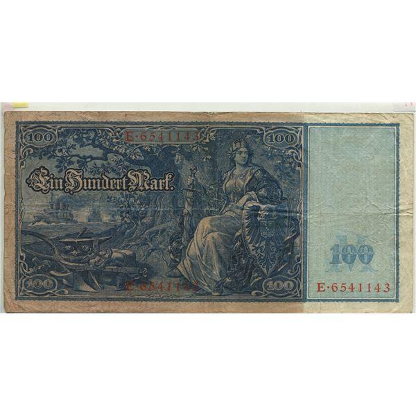 Germany 1910 100 Marks #42 V.F. cond.