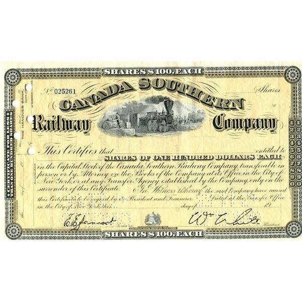 Canada Southern railway 100 dollar shares July 11,1955