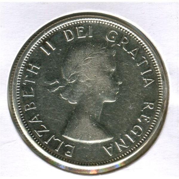 Canada 1959 & 1960 half- dollars .800 silver M.S. 64.