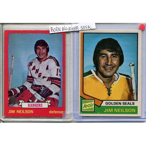 Jim Neilson 1973-74 O.P.C #123 & 1974-75 O.P.C. #109 Big River Sask