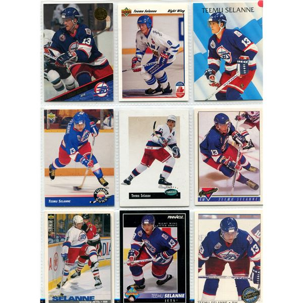 Teemu Selanne  9 card lot including rookie