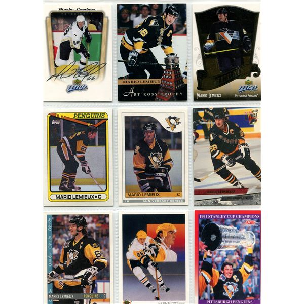 Mario Lemieux 9 card lot