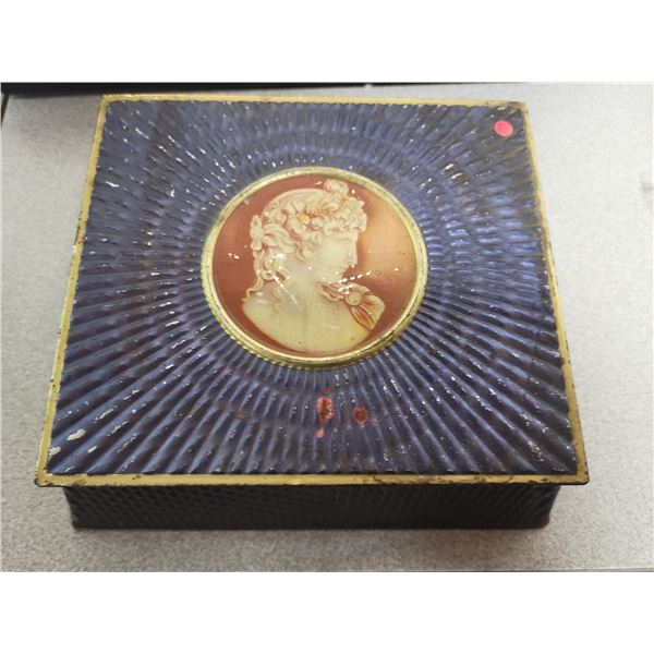 Mcvitie & price biscuit tin cameo of venus on cobalt 60's