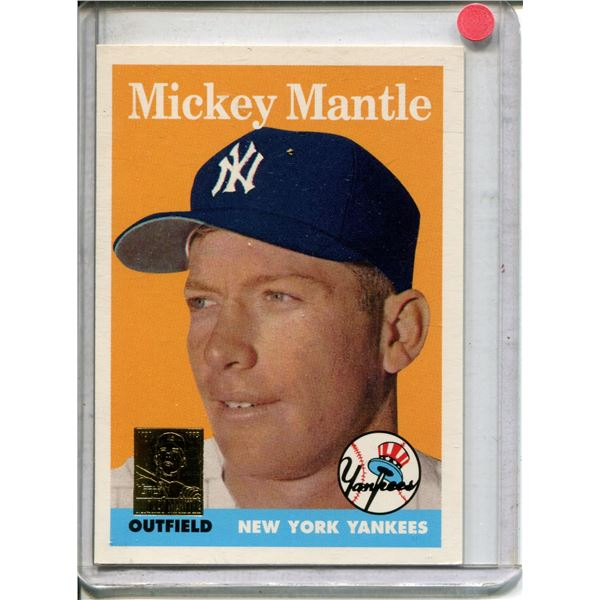 Mickey mantle commemortive card 1996 pristine comd.