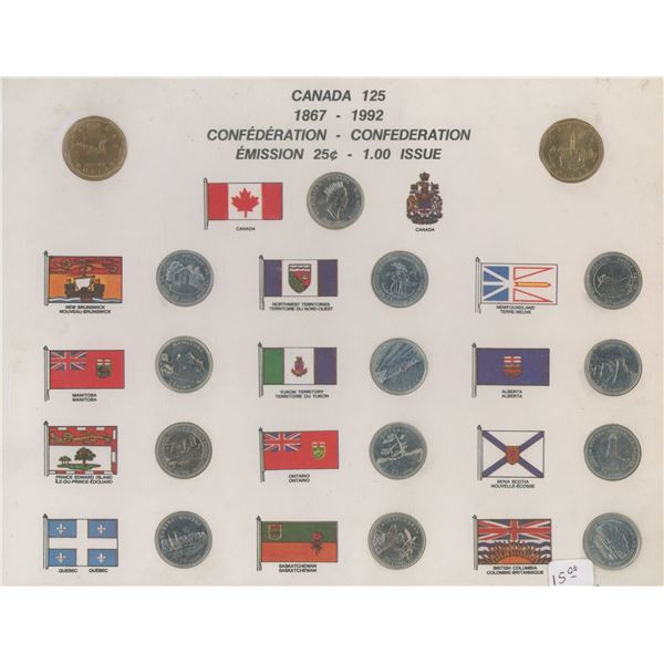 1867-1992 Canadian Confederation Issue (25 Cents + One Dollar)